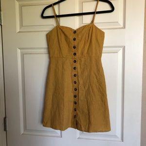 Mustard Yellow Button Dress
